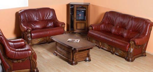 Usnjene sedežne garniture odprodaja eksponatov