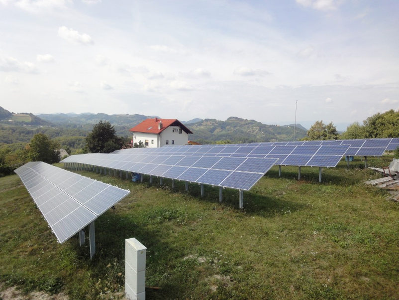 izkoristek sončne elektrarne