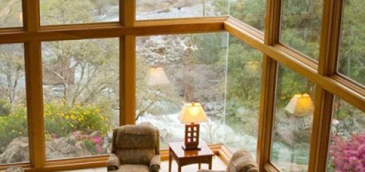 Lesena okna z alu oblogo