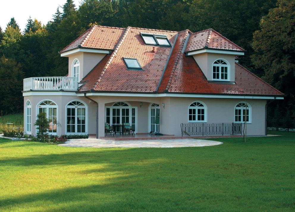 Zgrajena zidana hiša