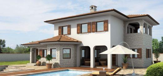 Mediteranska hiša z bazenom
