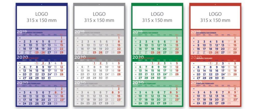 Tridelni koledarji vašega podjetja