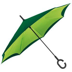 Zelen dvoplastni dežnik